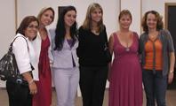 Luciana e outras homenageadas (Letícia Heinzelmann)