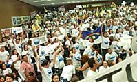 Categoria realizou ato em Brasília (Edson Santos, Sefot-Secom)