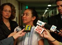 Heloísa esteve em Brasília para assinar representação