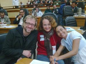Thedy, eu e a Heloísa Helena no II congresso do PSOL