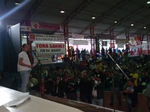 Heloísa Helena fala na abertura do congresso do PSOL