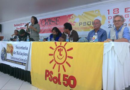 O seminário é realizado pela Secretária de Relações Internacionais do PSOL