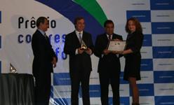 Luciana na cerimônia de 2008