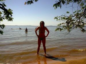Eu na Praia das Pombas