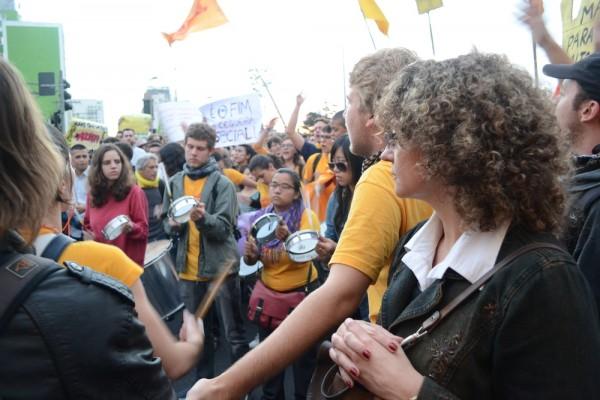 Com o bloco do Juntos! na manifestação do dia 17/06, em São Paulo