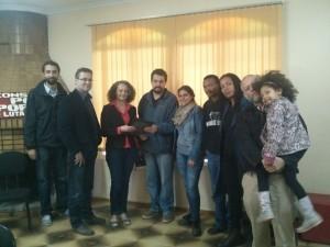 Luciana Genro entrega programa da candidatura para Guilherme Boulos