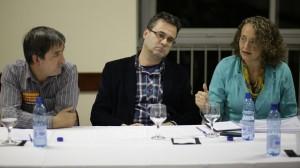 Valmor Guedes e Roberto Robaina e Luciana Genro
