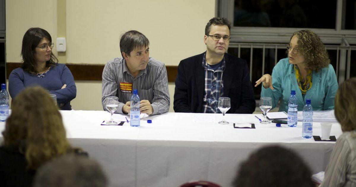 Visita Luciana Genro e Roberto Robaina e Gabi Tolotti a ASRGHC