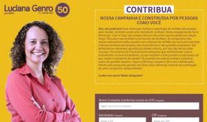 Plataforma de doação (acesse http://contribuir.lucianagenro.com.br/)