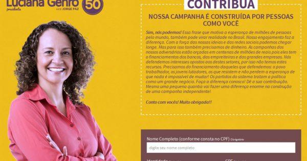 Luciana Genro é a primeira presidenciável a lançar plataforma de arrecadação de recursos via Internet