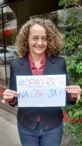 Luciana Genro também aderiu à campanha #DemocracianaCBFjá