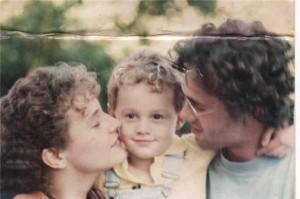 Com Roberto Robaina e nosso filho, Fernando, há 20 anos