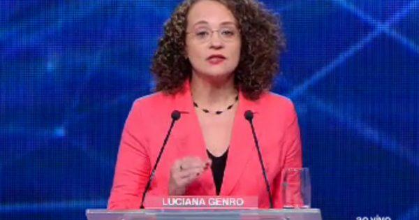 Luciana Genro, a presença marcante do debate da Band