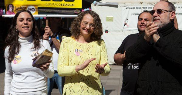 """Luciana Genro: """"Nós escolhemos o caminho da luta"""" em Santa Maria/RS, sua cidade natal"""