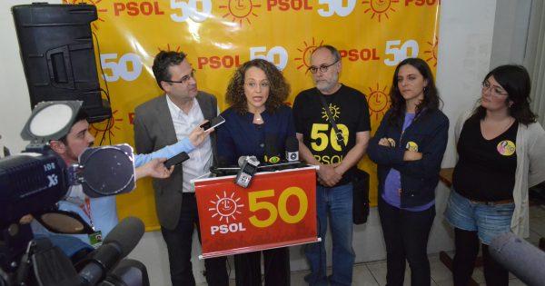 """Luciana Genro comemora """"vitória política do PSOL"""" nas eleições de 2014"""