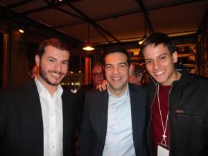Juliano Medeiros, Alexis Tsipras e Thiago Aguiar