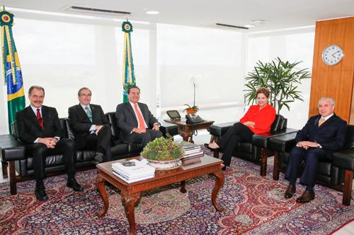 Aloizio Mercadante, Eduardo Cunha, Renan Calheiros, Dilma Rousseff, Michel Temer