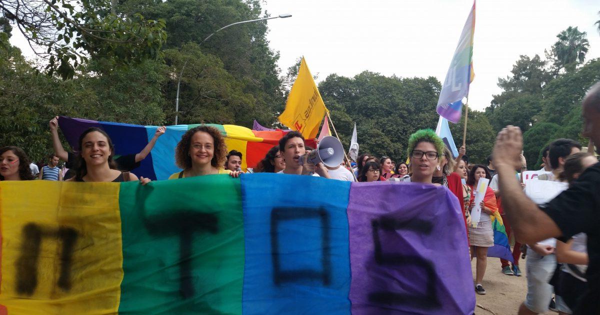Luciana Genro na Marcha de Combate à LGBTfobia na Redenção