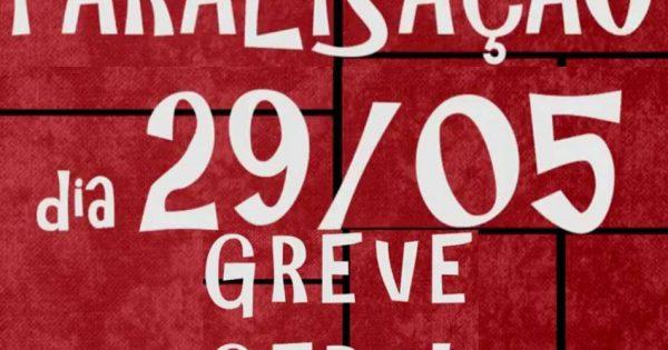 29 de maio: Dia de paralisação geral contra o ajuste fiscal de Dilma e Levy e as terceirizações