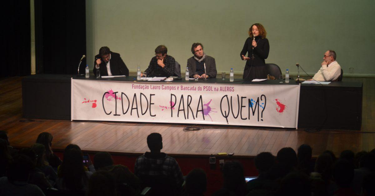 Luciana Genro no debate Cidade Para Quem com Marcelo Freixo