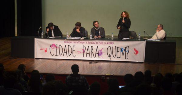 Luciana Genro e Marcelo Freixo debatem segurança pública e direitos humanos em Porto Alegre