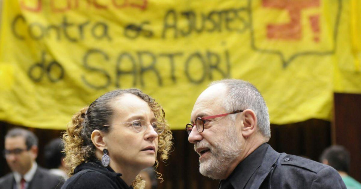 Luciana Genro e Pedro Ruas