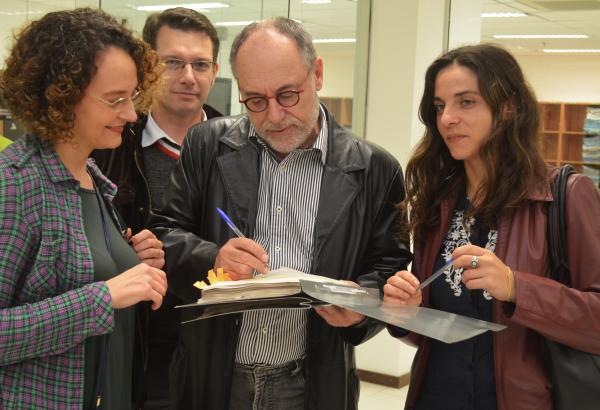 Luciana Genro, Prof. Alex Fraga, Pedro Ruas e Fernanda Melchionna protocolaram ação na tarde de sexta-feira (25/09) | Foto: Luciano Victorino/PSOL