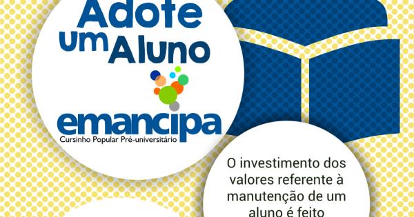 """Emancipa lança campanha """"Adote um aluno"""""""