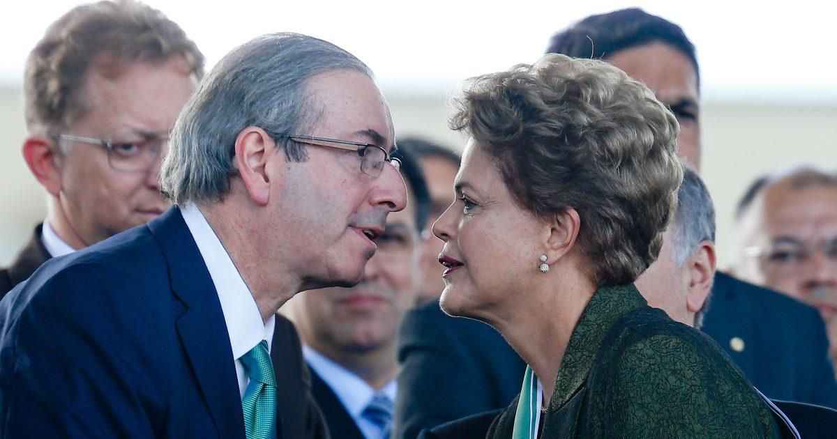 Dilma e o presidente da Câmara, deputado Eduardo Cunha