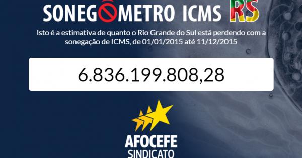 Rio Grande do Sul perdeu quase R$ 7 bilhões por sonegação fiscal em 2015, aponta Afocefe