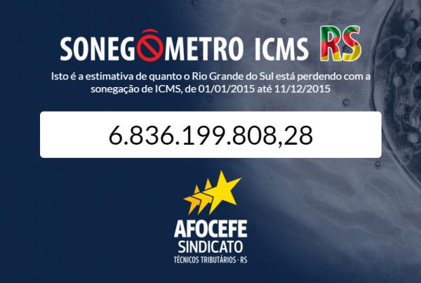 Sonegômetro informa montante que o Rio Grande do Sul perde com sonegação de impostos