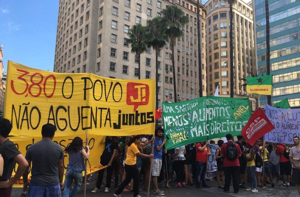 Protesto contra o aumento da passagem
