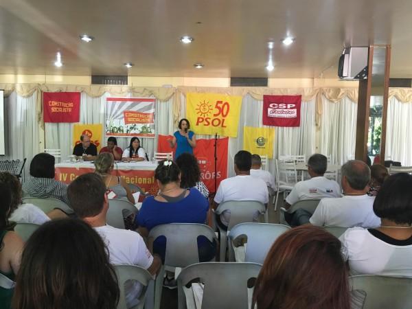 Luciana Genro destacou a importância da Construção Socialista no processo de fundação do PSOL