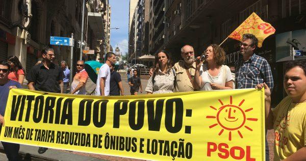 Ato marca um mês de tarifa reduzida em Porto Alegre