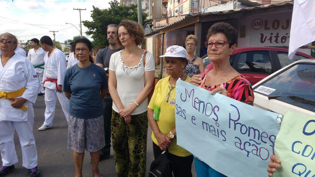 Protesto da Amorb no Rubem Berta