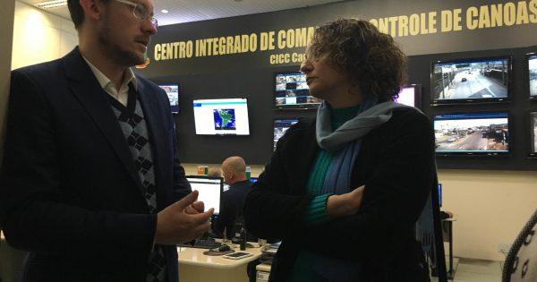 Luciana Genro visita Canoas para conhecer modelo de segurança municipal