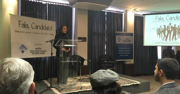 Luciana Genro apresenta propostas à Associação Comercial de Porto Alegre