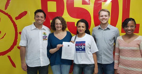 Compromisso com saúde pública é reforçado por Luciana ao movimento OcupaSUS