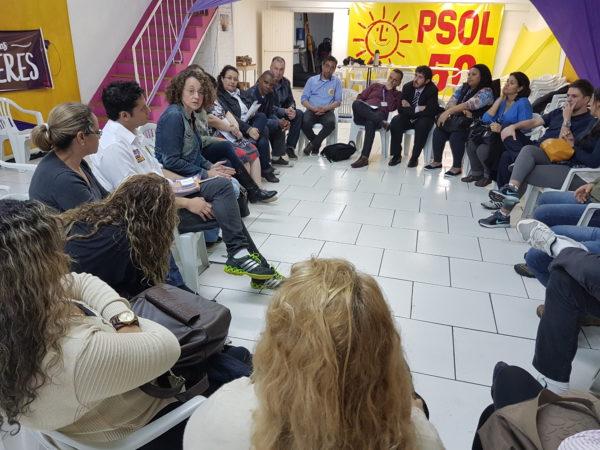 Trabalhadores apresentaram dificuldades enfrentadas no dia-dia | Foto: Alvaro Andrade/´PSOL