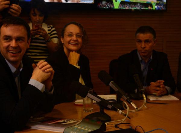 Foto: Luciana Genro participou nesta manhã do primeiro debate entre os candidatos à prefeitura de Porto Alegre | Foto: Fernanda Piccolo/PSOL