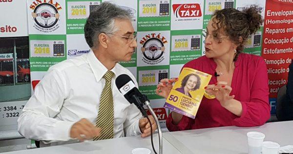 Luciana Genro fala sobre mudanças na EPTC, mobilidade urbana e Uber em reunião com taxistas