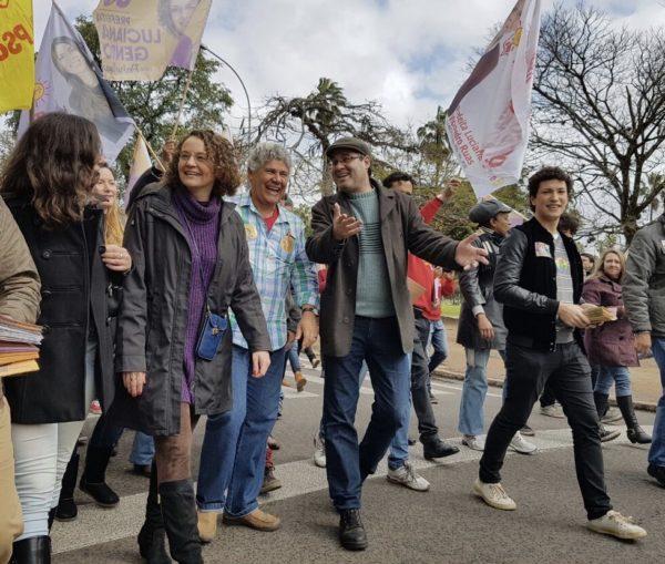 Líderes do PSOL participaram da caminhada com Luciana | Foto: Alvaro Andrade/PSOL