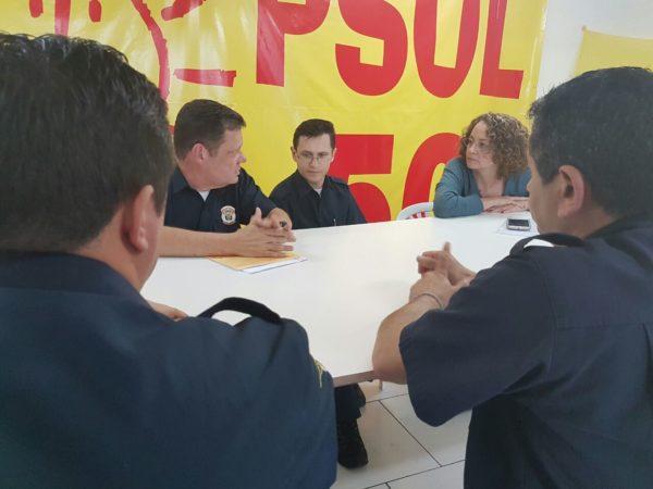 Luciana defendeu valorização e incremento da corporação | Foto: Alvaro Andrade/PSOL