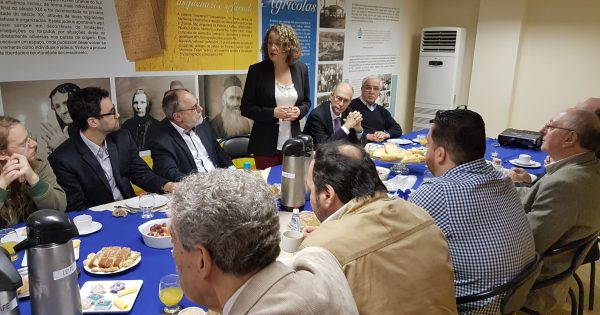 Luciana e Pedro Ruas apresentam programa de governo à Federação Israelita