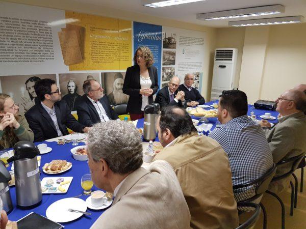 Membros da comunidade judaica conheceram propostas de Luciana | Foto: Alvaro Andrade/PSOL