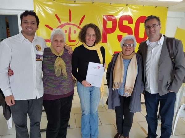 Luciana recebeu reivindicações da ABRASUS | Foto: Alvaro Andrade/PSOL