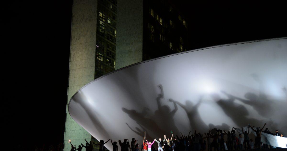 Protesto em Brasília em junho de 2013