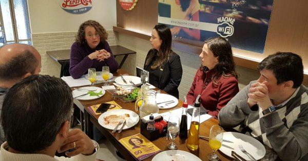 Em conversa com empresários, Luciana propõe agência de fiscalização para reduzir burocracia