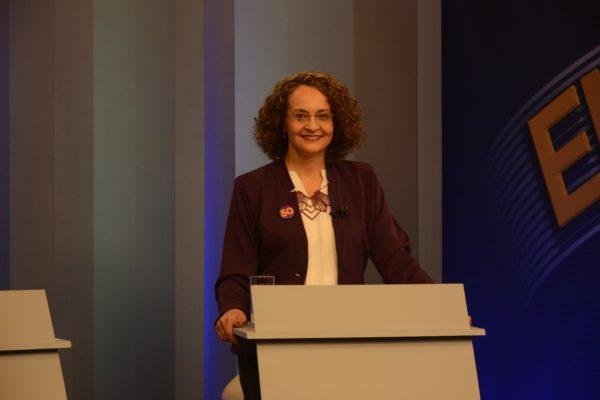 Luciana novamente teve ótimo desempenho no debate | Foto: Fernanda Piccolo/PSOL
