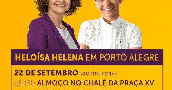 Heloísa Helena estará em Porto Alegre para apoiar Luciana Genro